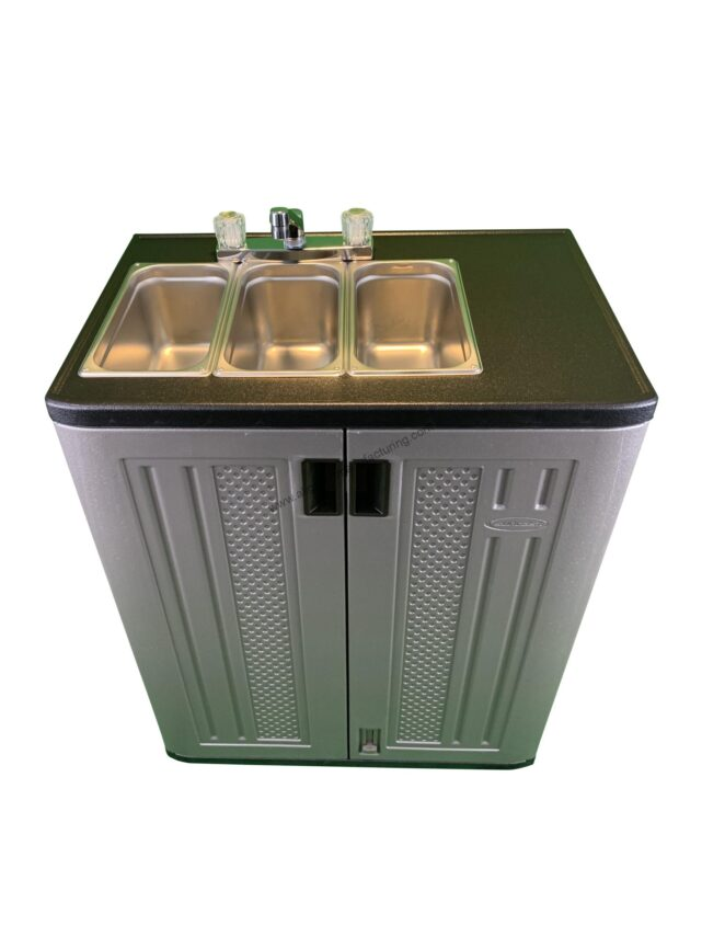 3 Bowl Sink ( Wash, Rinse, Sanitize)